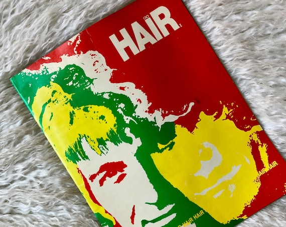 "Authentic vintage 1969 psychedelic colored  "" Hair ""  Theater program *RARE*"