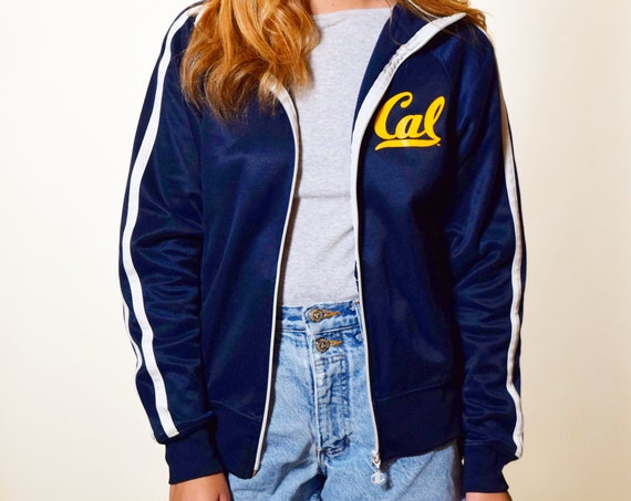 1980s authentic vintage Cal Berkeley Champion track zip up jacket women's size small - medium