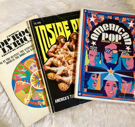 Authentic vintage 1968-1969 SET OF 3 American Pop / Rock psychedelic hippie books