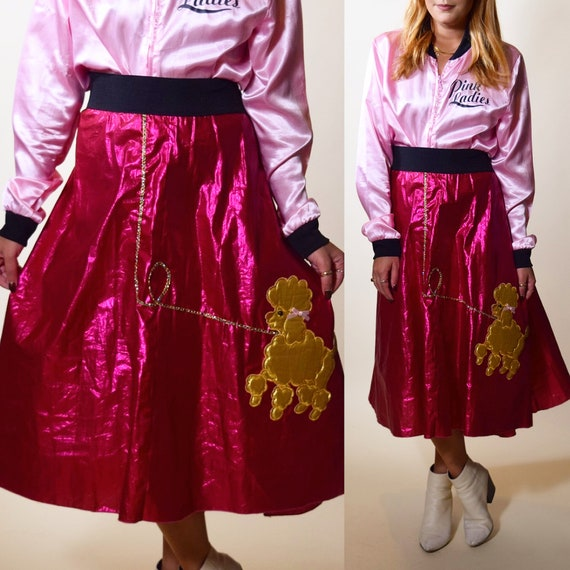 Grease pink ladies halloween poodle skirt women's one size