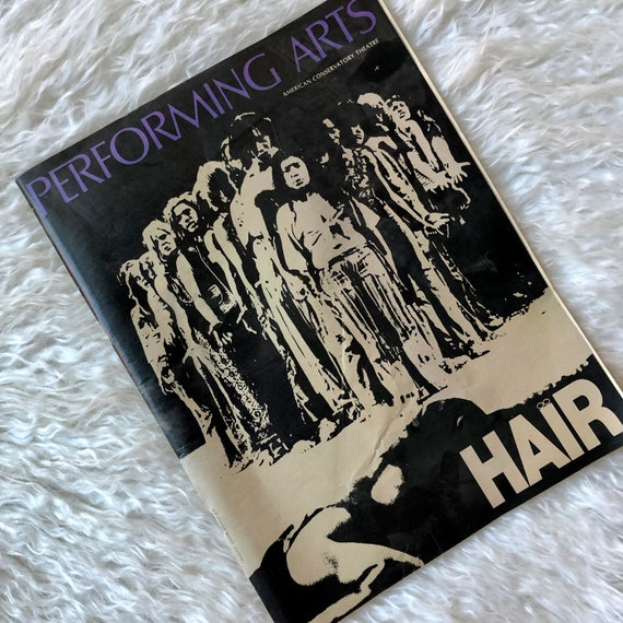 """Authentic vintage 1969 """" Hair """" American Conservatory Theater program *RARE*"""