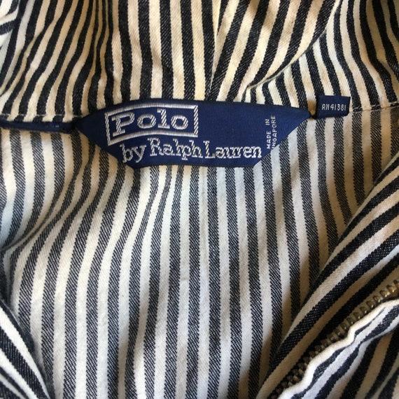 1980s Polo by Ralph Lauren pinstripe zip up windb… - image 3