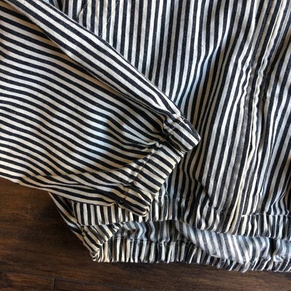 1980s Polo by Ralph Lauren pinstripe zip up windb… - image 4