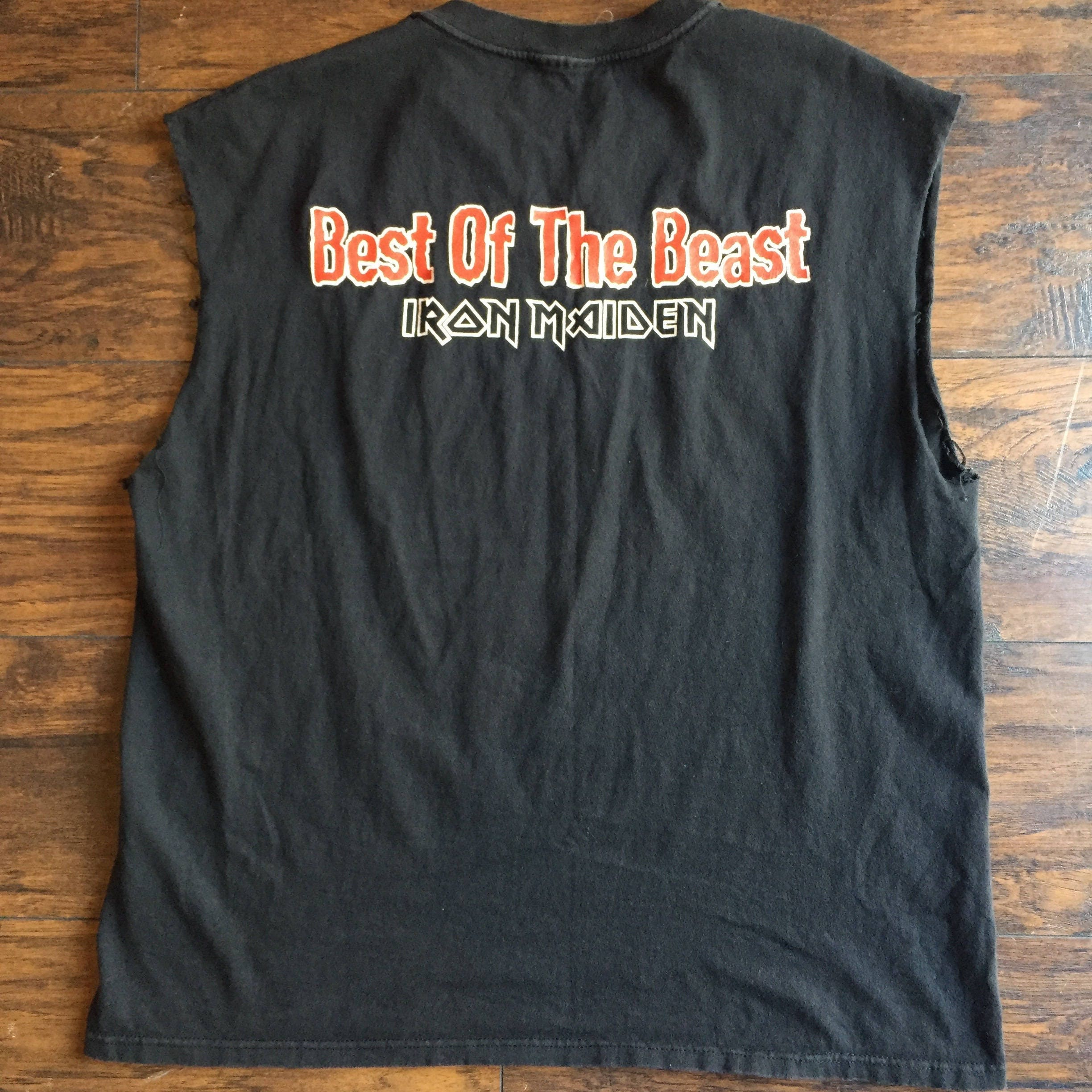 f2f1ed7c IRON MAIDEN vintage 90's Best of the Beast 1997 muscle tank top ...