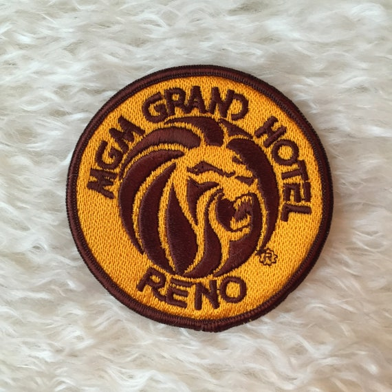 Vintage deadstock MGM Grand Hotel, Reno souvenir round patch