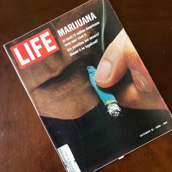 1969 Rare vintage LIFE magazine Marijuana cover story