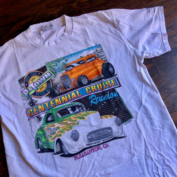 1990s authentic vintage Centennial Cruise Ptown classic car graphic tee shirt unisex Large