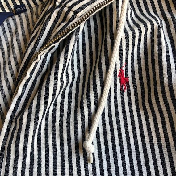 1980s Polo by Ralph Lauren pinstripe zip up windb… - image 2
