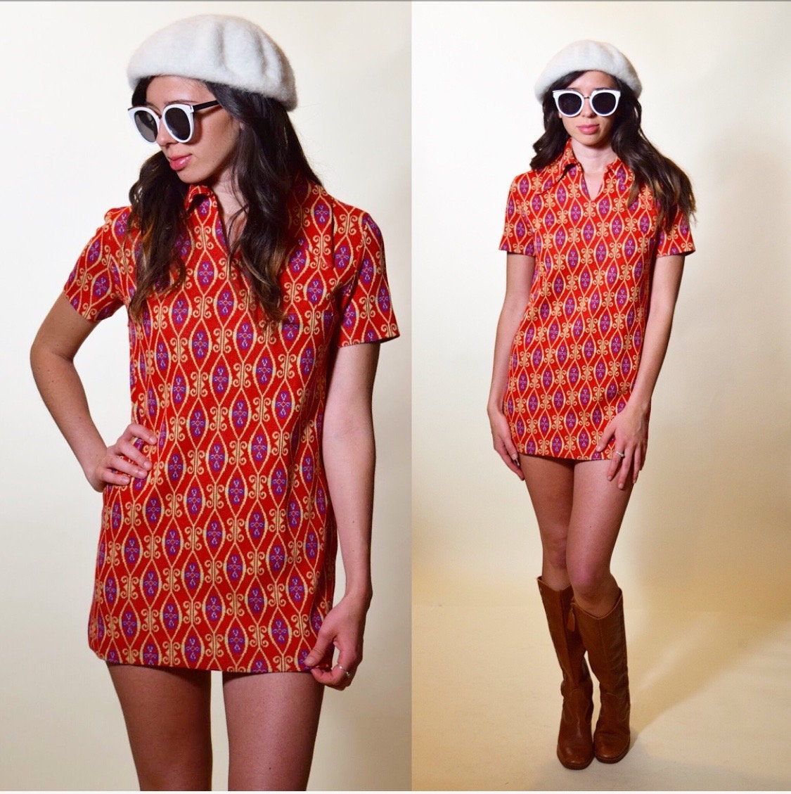 f0965b64fd8 Authentic vintage 1960s/70s classic psychedelic hippie patterned ...
