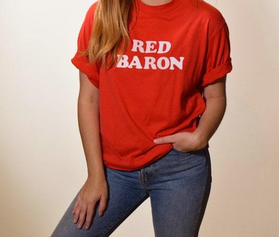 1980s authentic vintage Red Barron classic lettering graphic t shirt unisex M-L