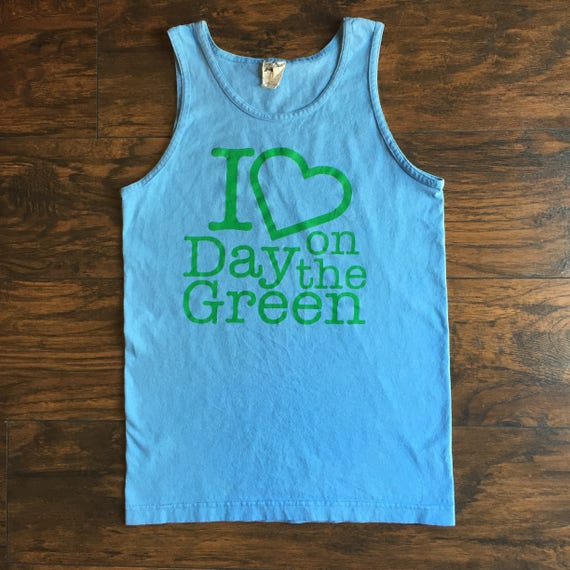 Vintage 1980's I LOVE Day On The Green bay area music festival Rock N Roll muscle tank top size small / medium