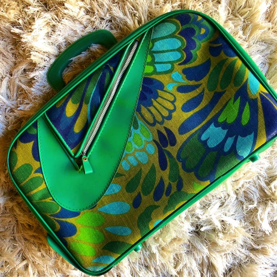 1960s authentic vintage psychedelic groovy floral