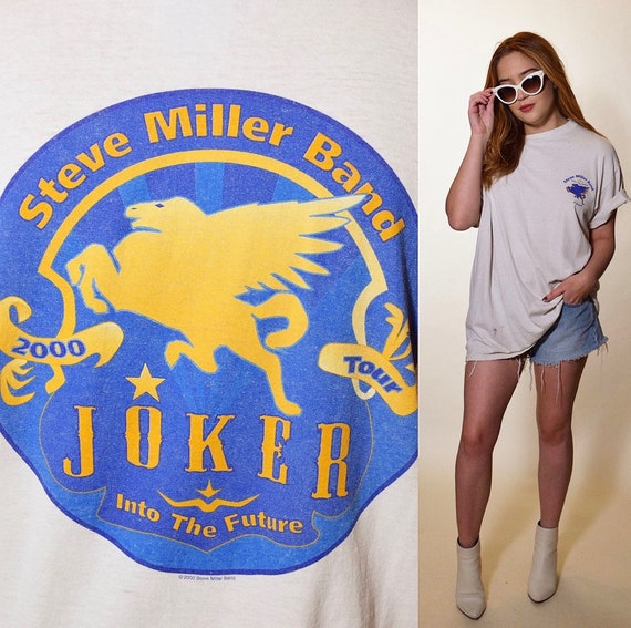 Vintage Steve Miller Band The Joker tour oversized distressed band tee shirt Unisex L-XL