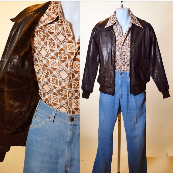 1950s style leather bomber jacket by Levi's Vintage Clothing