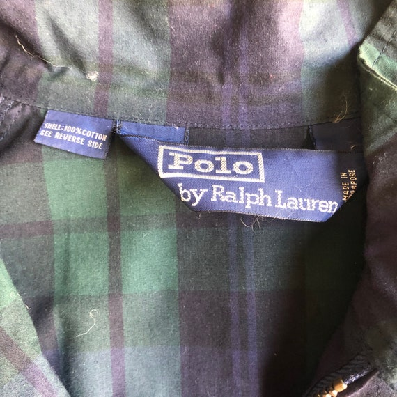 1980s Polo by Ralph Lauren checkered green + navy… - image 2