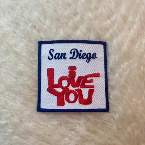 "Vintage 1970's ""San Diego I Love You "" hippie souvenir travel patch  California"