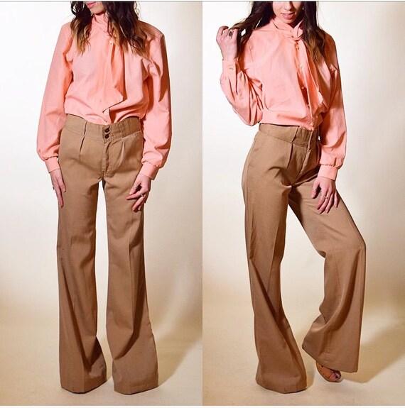 1970's vintag tan brown khaki disco Levi's STA-PRE
