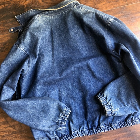 1980s Polo By Ralph Lauren denim bomber collared … - image 5