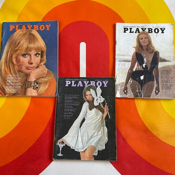 Authentic vintage 1960s lot to 3 Playboy Magazines