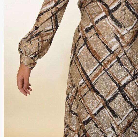 1960s authentic vintage lurex long sleeve glitter… - image 3