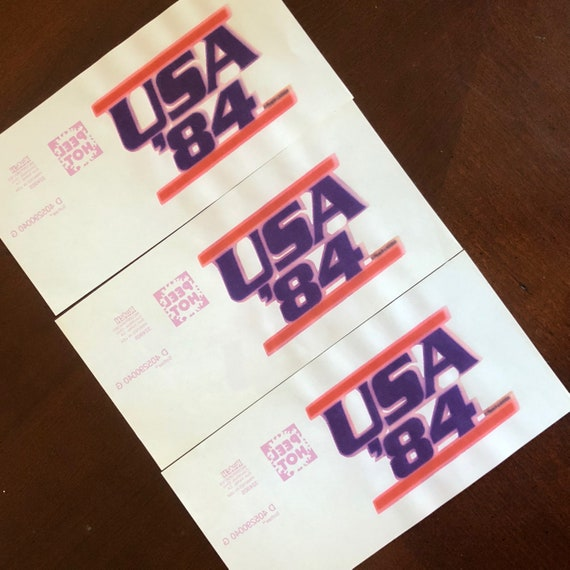Authentic vintage USA '84 Iron on transfers