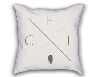 Chicago Home Pillow - Illinois Pillow, Illinois Home Decor, Chicago Home Decor, Illinois Home Pillow, Illinois Throw Pillow
