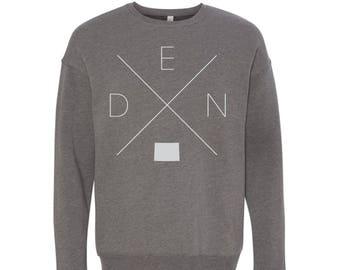 Denver Sweatshirt - DEN Home Sweater, Colorado Off Shoulder Sweatshirt