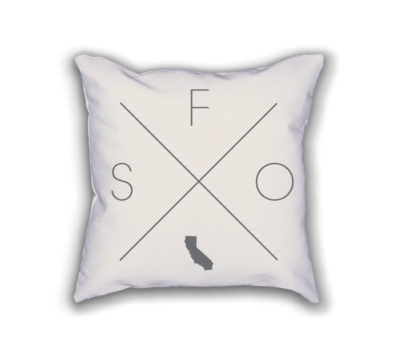 San Francisco Home Pillow California