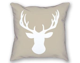 Christmas Pillow – Deer Pillow, Holiday Pillow