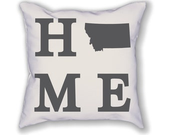 Montana Home State Pillow