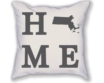 Massachusetts Home State Pillow