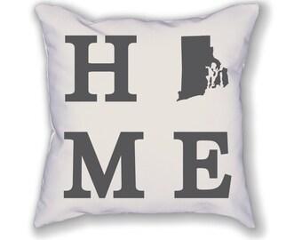 Rhode Island Home State Pillow