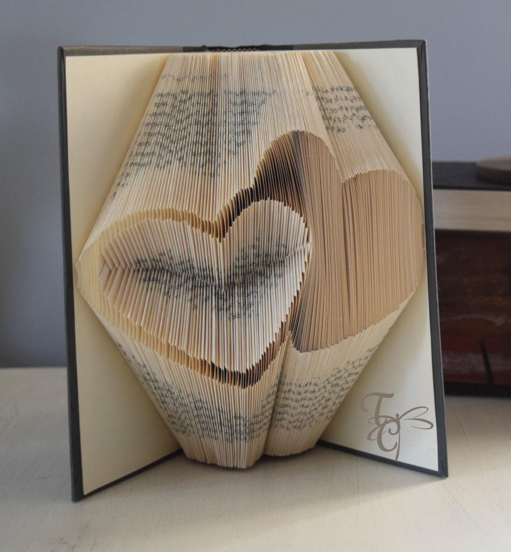 sur commande Handmade plié Livre Art 25 ans argent mariage anniversaire