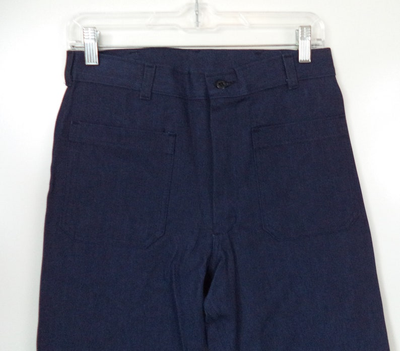 32bc7931a0a4 New 70s sailor bell bottoms high waist jeans / Dead stock Navy   Etsy