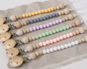 Teething Pacifier Clip - silicone beaded