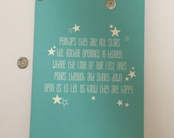 Perhaps they are not stars but rather openings in heaven... condolences / sympathy card