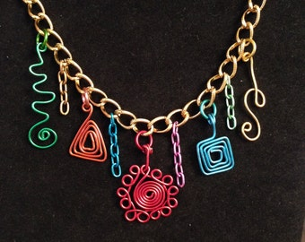 Hanging Shapes Necklace