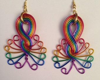 Rainbow Burst Earrings