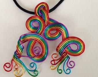 Whimsical Rainbow Pendant Necklace