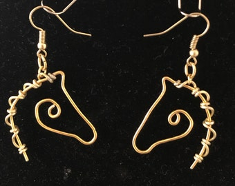 Horse earrings in any color