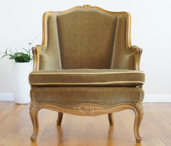 French Provincial Chair >> Vintage French Provincial Chair Custom Order Etsy