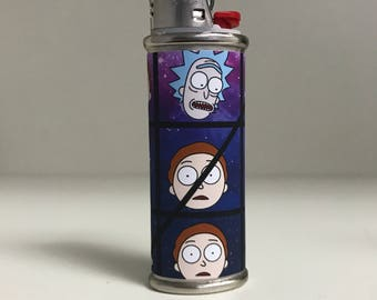 Rick and Morty Custom Lighter Case