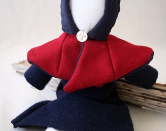 Medieval Style Cloth Doll With Hood - Kyra