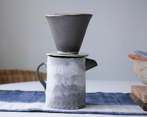 Hakeme Pour Over Dripper + Carafe Set (also available in pieces -- pour over cone alone // carafe alone)