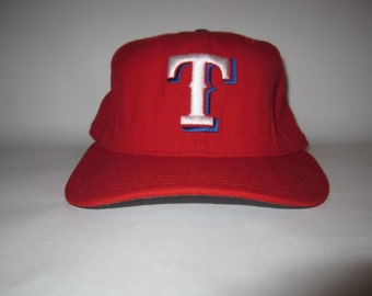 f6ceb0617cb Vintage Texas Ranger New Era Embroidered Fitted Trucker Hat Size 7 (100%  Wool) Made in USA