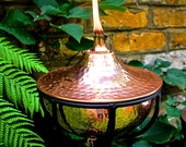 Copper hammered Bowl Oil Torch
