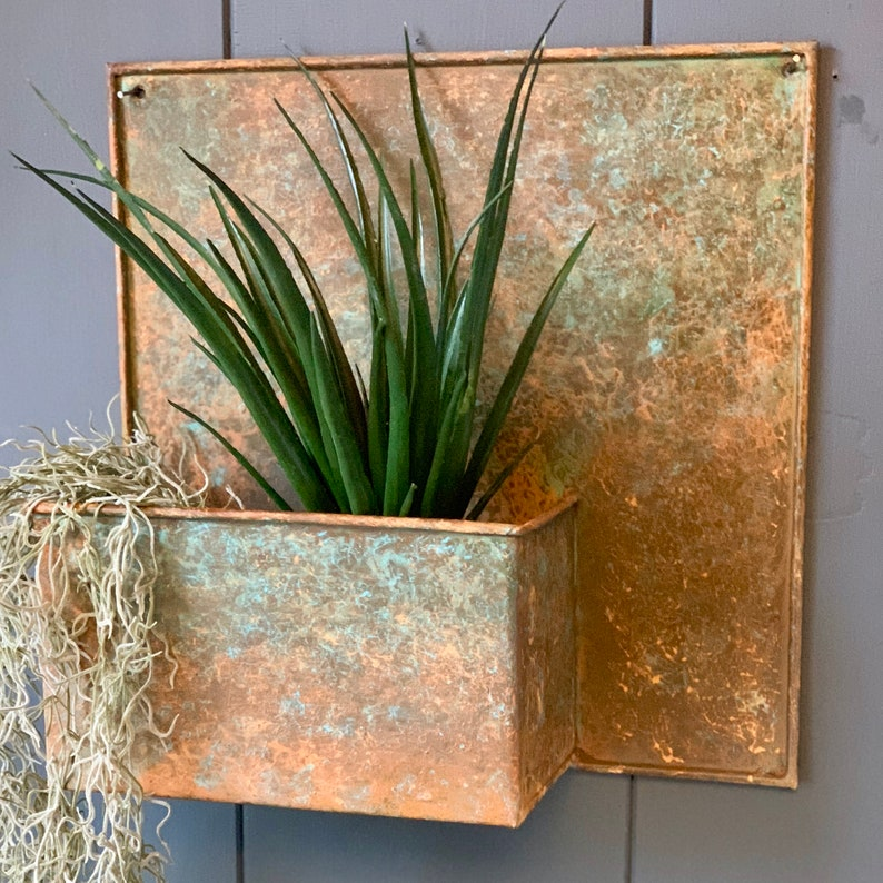Verdigris Wall Planter  LTZAF089