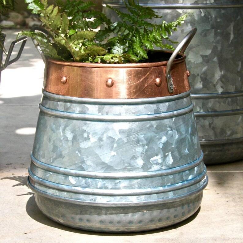 Zinc and Copper Patio Planter Small LTZAF033S