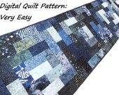 Table Runner Quilt Patterns, Table Runner Patterns, Modern Quilt Pattern, Scraps or Jelly Roll Pattern, Digital Download, Very Easy Beginner