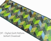 Table Runner Quilt Patterns, Quilted Table Runner Patterns, 2 1 2 inch Strips or Jelly Roll Pattern, Digital Download, Intermediate
